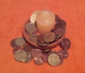 Amuleto de monedas