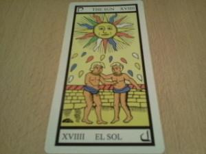 la carta del sol en un hechizo de amor