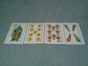 lectura de cartas con baraja española