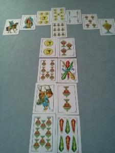 lectura de cartas con baraja española, la flecha