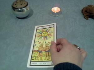 significado de el sol en una lectura de tarot