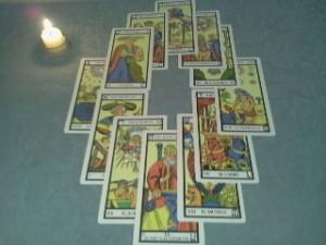 Tirada astrológica del tarot de marsella