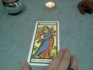 Cartomancia: significado la templanza tarot