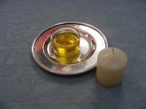 Amarre con foto con vela y miel