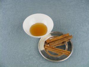 Endulzamiento con miel y canela